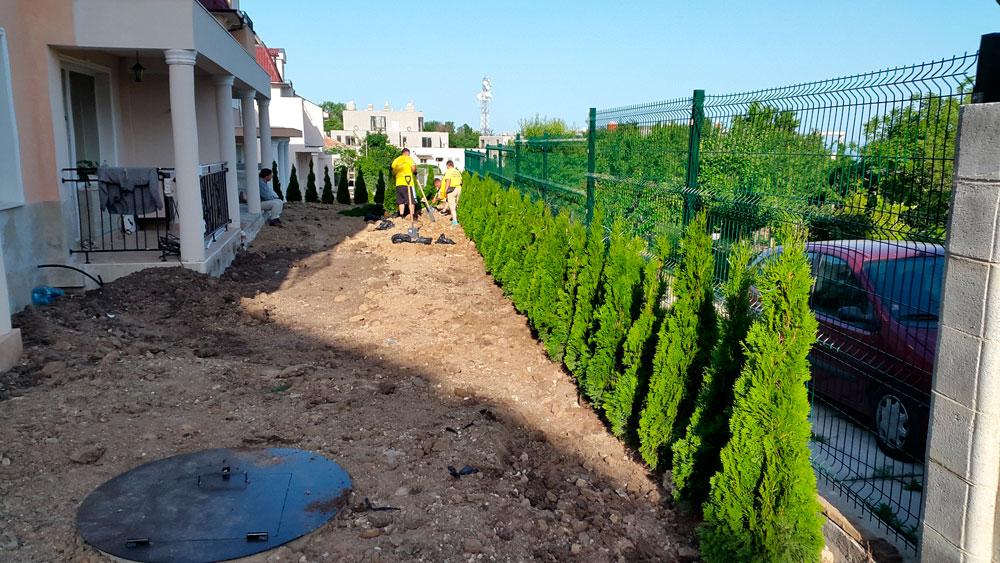 Частен обект Варна - озеленяване