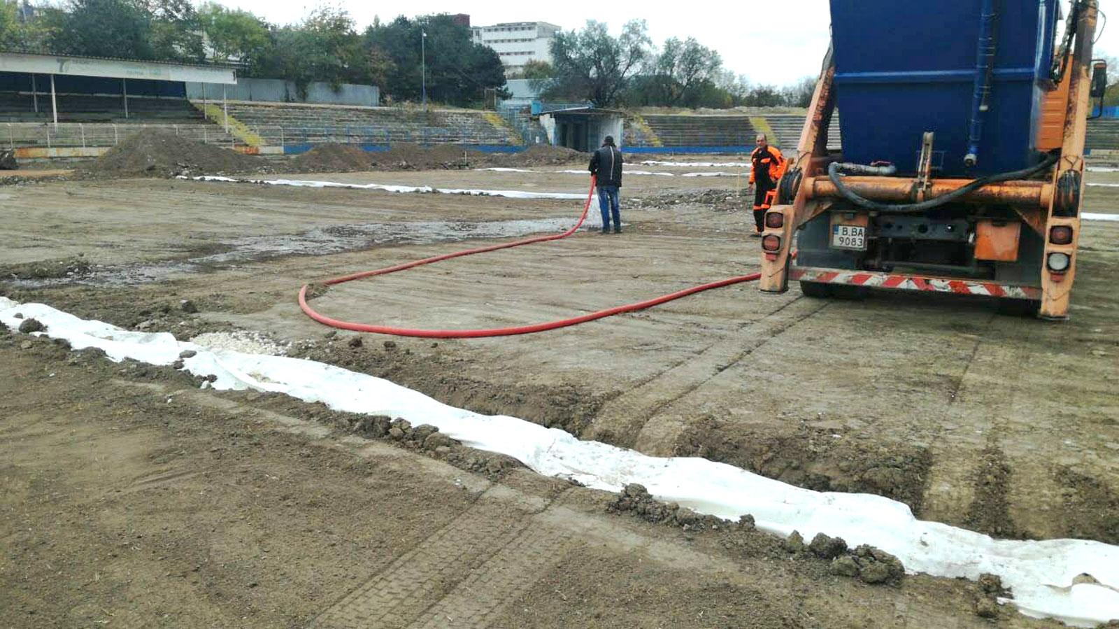 Стадион Спартак Варна - изграждане и затревяване